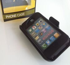 NEW BLACK  Hybrid  Case for IPHONE 4/4S W Belt CLIP Holster /screen. Replacement