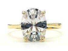 18 Carat Anniversary Oval Yellow Gold Fine Diamond Rings