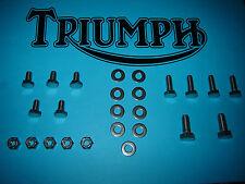 Triumph T140 V E Bonneville TR7 Inox Poli Garde-boue Avant Fixations Kit