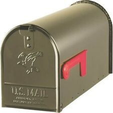 New Solar E1100Bz0 Bronze Heavy Duty Metal Standard Rural Mailbox 0143339