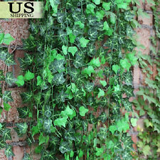 12pcs Artificial Hanging Plant Leaf Fake Foliage Ivy Vine Garland Leaves Wreath