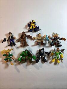 Playskool Marvel Galactic Heroes 9 Figure Lot: Avengers, Villains, Star Wars