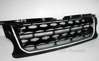 LAND ROVER DISCOVERY 4 2014-17 - FRONT GRILLE UPGRADE BLACK GLOSS SILVER TRIM