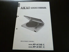 Original Service Manual Schaltplan AKAI AP-A150/C AP-A101/C