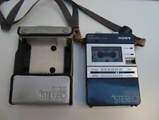 VINTAGE SONY M-80 FM/AM STEREO MICROCASSETTE CORDER WITH ORIGINAL SILVER CA