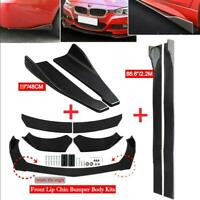 "Car Front Rear Bumper Lip Spoiler Splitter + 86"" Side Skirt Extension for BMW"