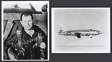8x10 Photo Lot~ GENERAL CHUCK YEAGER & landing the XIA 81384 Air Force Plane