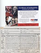 Johnny Farrell Autograph Scorecard PSA/DNA Authenticated
