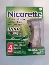 Nicorette 4mg Mini Lozenges 81 Count, Mint Flavor, (1) Exp 09/18  (2) Exp 10/17