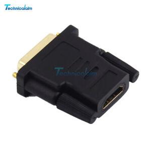 Audio HDMI Male To DVI-D Female 24+1 DVI Cord Cable Converter Adapter
