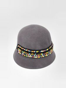Ladies' Beautiful Wool with Bowknot Bowler Cloche Hat
