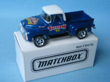 Matchbox 1956 Ford Pick Up Blue Body Hershey Toy Show 98  USA Classic 70mm Boxed