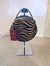 BAGITALI  LADIES LEATHER  ART DECO  STYLE ANIMAL PRINT BAG NEW WITH  TAG Black.