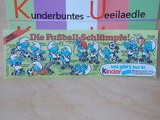 BPZ  Die Fussballschlümpfe  D 1988 BPZ dickes Papier