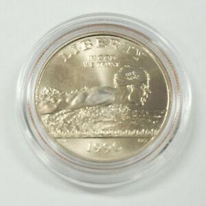 1996-S Centennial Olympics Half Dollar (Soccer) Capsule Proof Brilliant Gilt