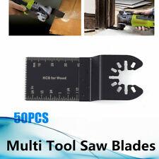 "50pcs Set Oscillating Multi Tool Saw Blades 3.6"" Carbon Steel Cutter Universal"