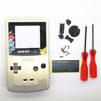 GBC Nintendo Game Boy Color Replacement Housing Shell Screen Gold Pikachu USA!