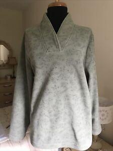 DASH Womens Green Fleecy Pullover Jumper Size UK 16