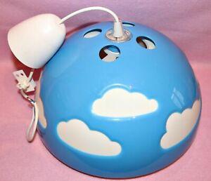 Ikea Lampe Skojig Deckenlampe Himmel Wolken Blau Weiß Kinderlampe Hängelampe