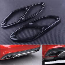 2pc Tail Fit Mercedes Benz GLC A Class W176 W246 Exhaust Muffler Pipe Cover Trim