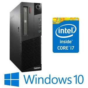 Lenovo ThinkCentre M83 SFF Desktop PC Core i7 4770 8G 320G DVDRW Win 10 Pro