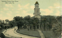 Postcard Lawrence County Court House New Castle, PA