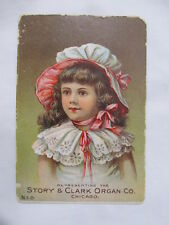 The Story & Clark Organ Company Chicago Kalamazoo S. Dill Co. Vintage Trade Card