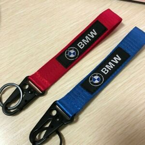 2PCS BMW car Auto Motorcycle Keyring MotoGP Motocross keychain wrist strap Metal