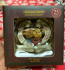 """Boyds Bear Holiday Hugs """"Our First Christmas"""" Ornament, You Can Personalize It"""