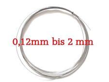 Federstahldraht - 0,12 bis 2,0mm Dicke- 5m pro Stückzahl - Rostfreier Draht