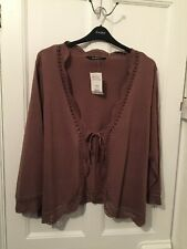 Evans Brown Long Sleeved Cropped Cardigan Size 30 - 32 (BNWT)