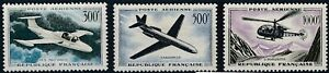 [I1584] France 1957/59 Airmail good set of stamps very fine MH $89