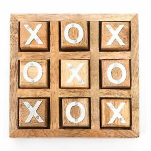 Wooden Tic Tac Toe Game for Kids 7 and Up - Great Gifts
