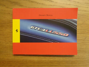 Ferrari GTC4 Lusso Owners Handbook Manual