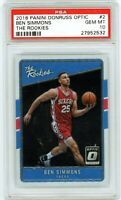 BEN SIMMONS 2016 Panini Optic The Rookies Rookie Card RC PSA 10 Gem Mint 76ers