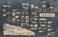 1904 VINTAGE VIEL GRUSSE GREETINGS REAL PHOTO POSTCARD sent to Cooino Turramurra