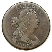 1796 S-109 R-3+ Rev of '94 Draped Bust Large Cent Coin 1c