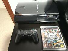 Consola Playstation 3 PS3 60GB retrocompatible con PS2, mando y GTA V CECHC04
