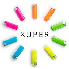 10 Pack Xuper Color Jet Flame Lighters Windproof Adjustable & Butane Refillable