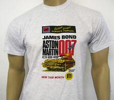 ASTON MARTIN DB5 T-SHIRT - James Bond 007 Goldfinger Retro Toy Car Model Advert