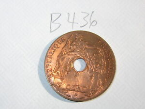 1 Cent French Indochina Coin 1939-A (See Photos) #B436