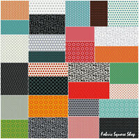 "Windham Uppercase Precut 5"" Charm Pack Fabric Quilting Squares SQ64"