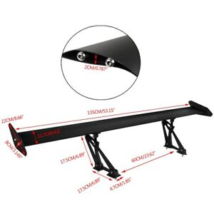 "Black Adjustable GT Rear Trunk Wing Racing Spoiler Auto 53""/135cm Universal 2021"