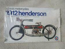 Vtg Sealed ENTEX 1912 HENDERSON Classic Motorcycle Model 1980's / Made In Japan