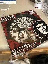 Che Guevara Portrait Collage Plastic Wall Clock With Black Frame New