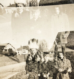 Vintage Photo Kids Halloween Costumes Double Exposure Ghostly Offensive Creepy