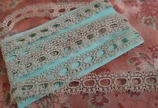 New listing French Antique Lace Valencienne Val Trim 2 yards dolls beaded slotted