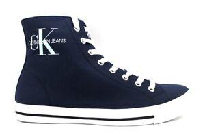 Scarpe da uomo Calvin Klein Jeans B4S0671 casual sportive alte sneakers in tela