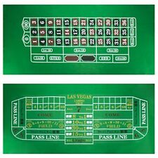 "Roulette & Craps Green Casino Gaming Table Felt Layout, 36"" x 72"""
