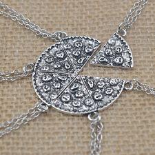 Trendy Best Friends Pizza Pendant Necklace Creative Friendship Necklace GW
